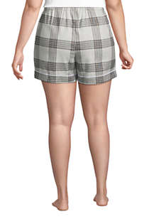 "Women's Plus Size 4"" Flannel Pajama Shorts, Back"