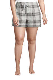 "Women's Plus Size 4"" Flannel Pajama Shorts"