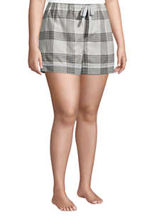 "Women's Plus Size 4"" Flannel Pajama Shorts, alternative image"