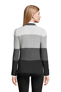 Women's Petite Cotton Drifter Cardigan Colorblock Sweater, Back