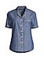 Women's Petite Short Sleeve Cotton Chambray Pyjama Shirt