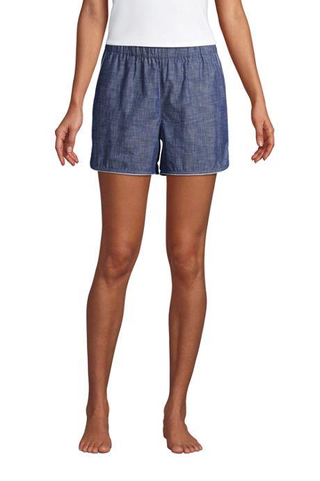 Women's Cotton Chambray Pajama Shorts
