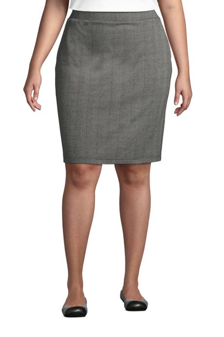 Women's Plus Size Sport Knit Pencil Skirt
