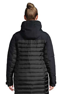 Women's Plus Size Squall Down Insulated Winter Coat with Hood, Back