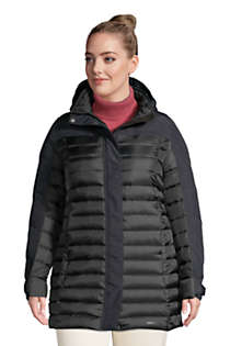 Women's Plus Size Squall Down Insulated Winter Coat with Hood, Front