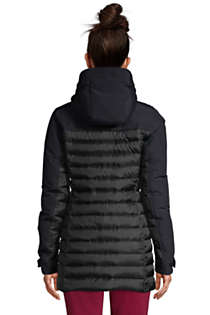 Women's Petite Squall Down Insulated Winter Coat with Hood, Back