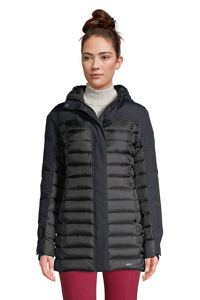 Women's Petite Squall Down Insulated Winter Coat with Hood, Front