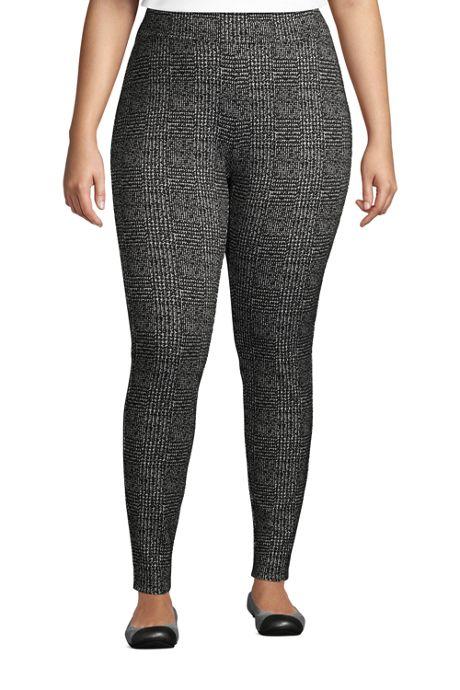 Women's Plus Size Starfish Knit Leggings Print