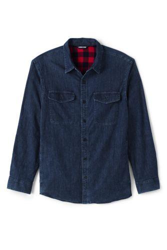 メンズ・フランネルラインド・ワーク・シャツジャケット