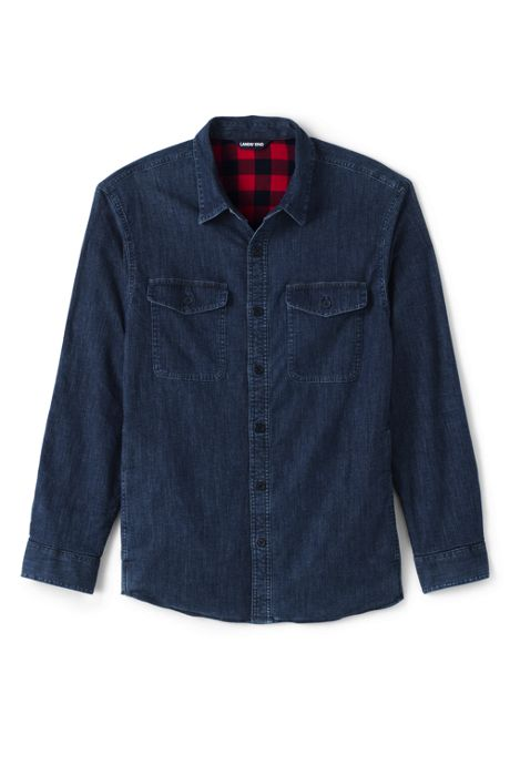 Men's Tall Flannel Lined Work Shirt