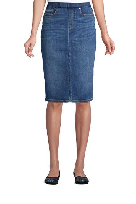 Women's Pull On Denim Pencil Skirt