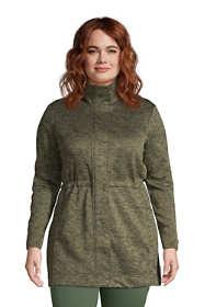 Women's Plus Size Sweater Fleece Long Coat