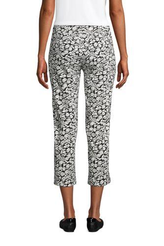 Women's Starfish Mid Rise Elastic Waist Pull On Crop Pants Print
