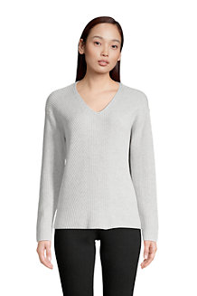 Women's Shaker Stitch Drifter V-neck Jumper