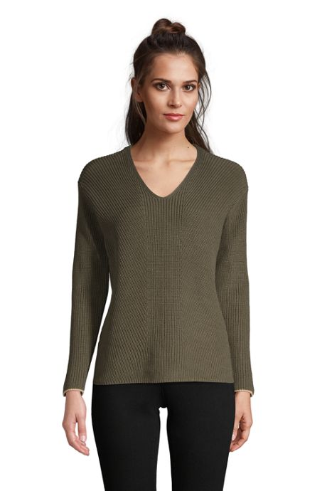 Women's Cotton Drifter Shaker V-neck Sweater