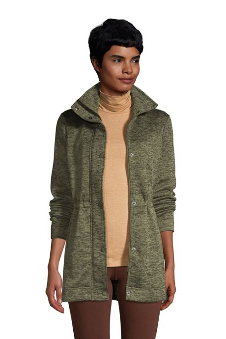 Women's Tall Sweater Fleece Long Coat