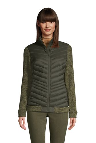 Women's Ultra Light Down/Sweater Fleece Packable Jacket