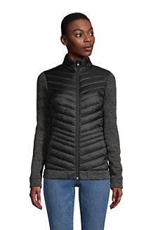 Women's Ultra Light Down/Sweater Fleece Packable Jacket