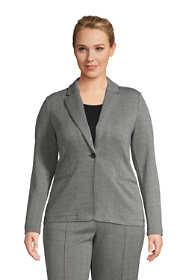 Women's Plus Size Jacquard Sport Knit Blazer