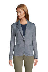 Women's Tall Sweater Fleece Blazer Jacket