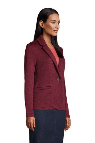 Women's Petite Sweater Fleece Blazer Jacket