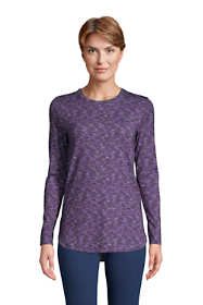 Women's Long Sleeve Curved Hem Moisture Wicking SPF Sun Tunic Print