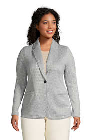 Women's Plus Size Sweater Fleece Blazer Jacket
