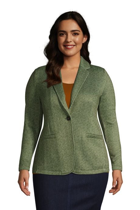 Women's Plus Size Sweater Fleece Blazer Jacket