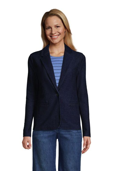 Women's Sport Knit Blazer-Indigo