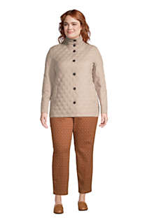 Women's Plus Size Petite Insulated Packable Quilted Barn Jacket Print, alternative image