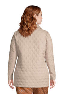 Women's Plus Size Petite Insulated Packable Quilted Barn Jacket Print, Back