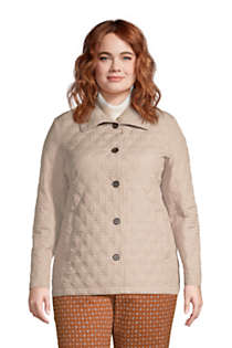Women's Plus Size Petite Insulated Packable Quilted Barn Jacket Print, Front
