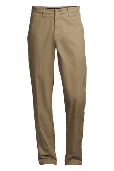 Men's Traditional Fit Plain Front Chino Pants