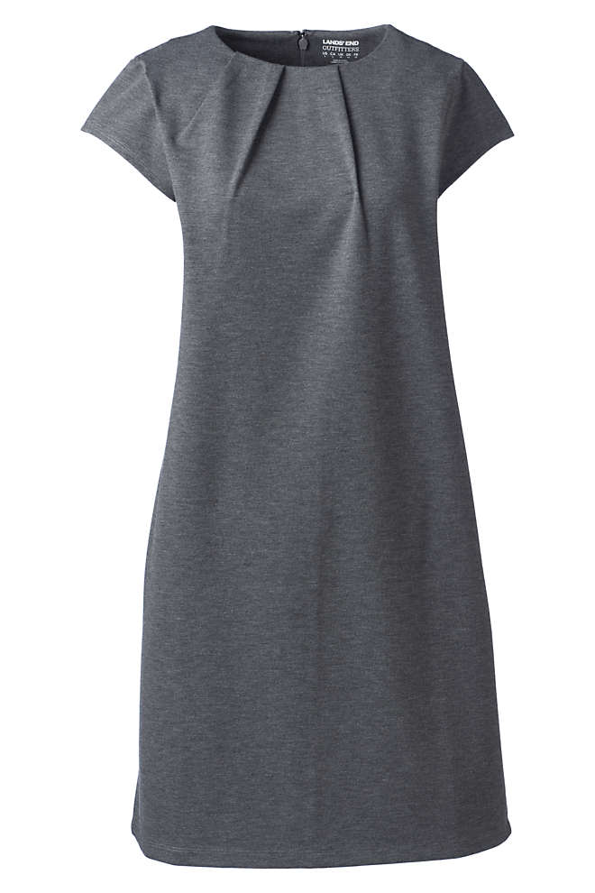 Women's Plus Size Short Sleeve Ponte Dress, Front