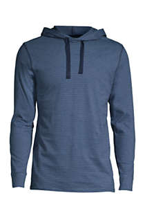 Men's Knit Hooded Pajama Shirt, Front