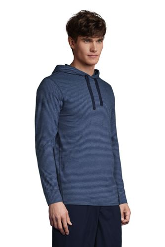Men's Knit Hooded Pajama Shirt