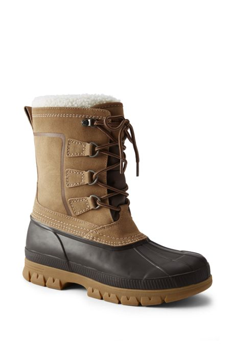 Men's Expedition Suede Insulated Winter Snow Boots