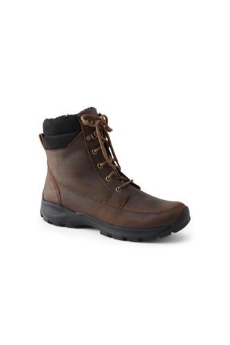 Men's Leather Insulated Snow Boots
