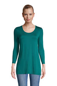Women's Jersey Knit 3/4 Sleeve Scoop Neck Tunic Top