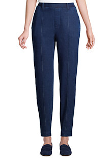 Women's High Waisted, Tapered Leg Sport Knit Trousers