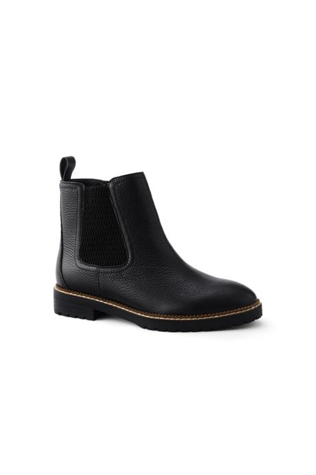 Women's Suede Leather Side Zip Flat Chelsea Boots