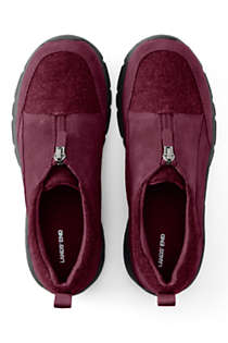 Women's All Weather Insulated Suede Leather Zip Moc Shoes, alternative image