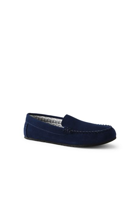 Women's Suede Leather Flannel Lined Moccasin Slippers