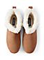 Pantoufles Hautes en Daim, Femme Pied Standard