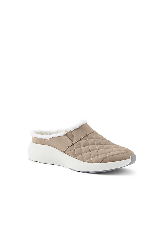 Women's Lightweight Comfort Quilted Slip On Clog Shoes, Front
