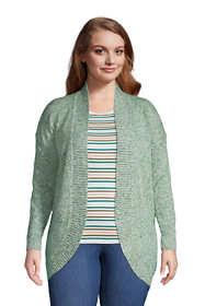 Women's Plus Size Long Sleeve Cocoon Cardigan