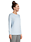 Women's Petite Fine Gauge Cotton Open Crew Neck Jumper