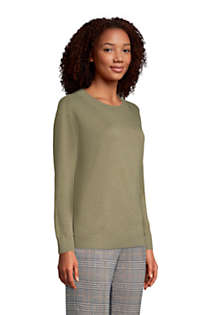 Women's Petite Fine Gauge Cotton Crewneck Sweater, alternative image
