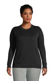 Women's Plus Size Fine Gauge Cotton Crewneck Sweater