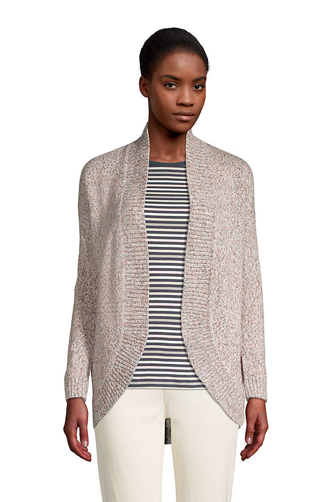 Women's Long Sleeve Cocoon Cardigan, Front